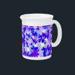 """Blue &amp; Purple Stars Confetti pattern Beverage Pitcher<br><div class=""""desc"""">star, stars, blue, purple, lilac, &quot;light blue&quot;, confetti, shape, geometric, cool, hip, popular, trendy, fun, rock, &quot;rock star&quot;, &quot;movie star&quot;, cute, shapes, funky, groovy, white, teen, teenage, teenager, kids, children, girly, stylish, starry, bright, girl, girls, &quot;, 80s, retro, pretty, texture, textured, mosaic, millions, thousands, hundreds, sprinkles, sprinkled, hollywood, pattern, scattered,...</div>"""