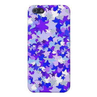Blue & Purple Stars Confetti pattern iPhone SE/5/5s Cover