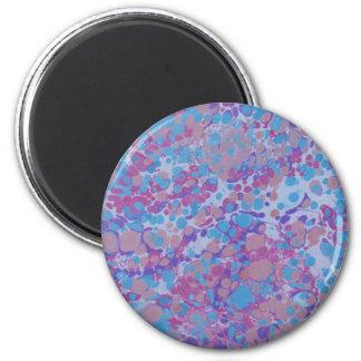 Blue/Purple Stone 2 Inch Round Magnet
