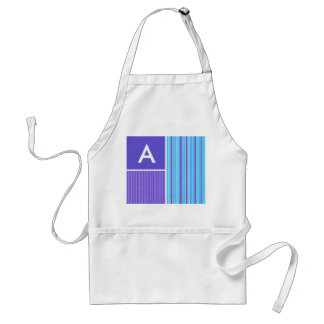 Blue & Purple Stripes Adult Apron