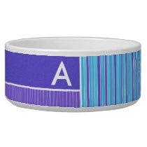 Blue & Purple Stripes Bowl