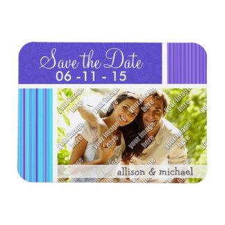Blue & Purple Stripes Magnet