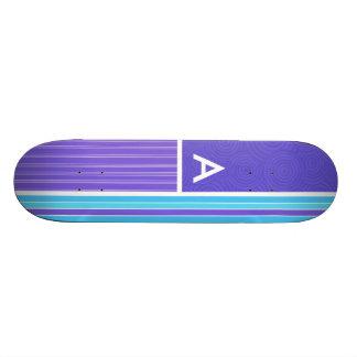 Blue & Purple Stripes Skate Deck
