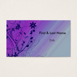 Blue & Purple Swirl Business Card template