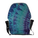Blue Purple Tie Dye Messenger Bag