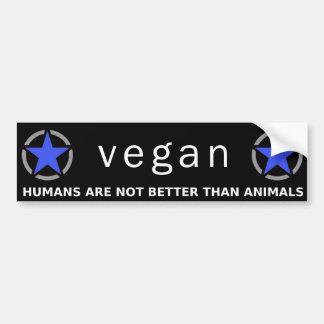 Blue-Purple Vegan Pride Bumper Sticker