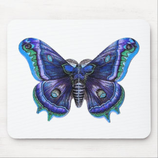 Blue Purple Vintage Butterfly Gift Item Mouse Pad