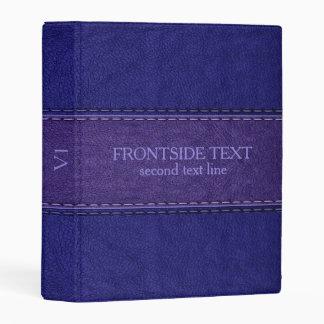 Blue & Purple Vintage Leather Texture Mini Binder