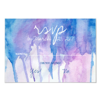Blue & Purple Watercolor | RSVP Card
