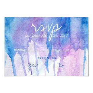 Blue & Purple Watercolor | RSVP Card