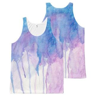 Blue & Purple Watercolor   Tank Top