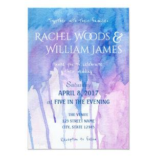 blue and purple invitations