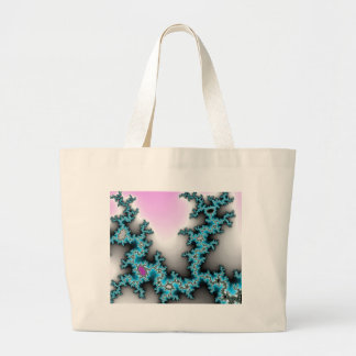 Blue Purple White Abstract Lightening Tote Bags