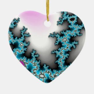 Blue Purple White Abstract Lightening Ceramic Ornament