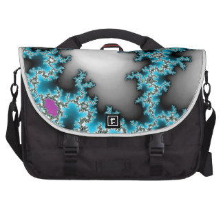 Blue Purple White Abstract Lightening Commuter Bag