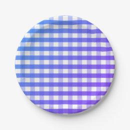 Blue purple white gingham paper plate  sc 1 st  Zazzle & Purple And White Gingham Plates | Zazzle