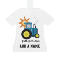 Blue Putt Putt Tractor Ornament