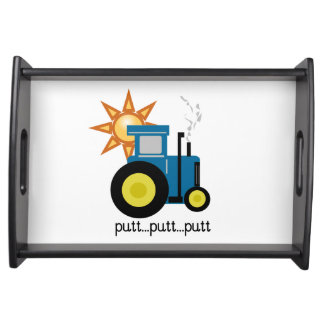 Blue Putt Putt Tractor Serving Tray