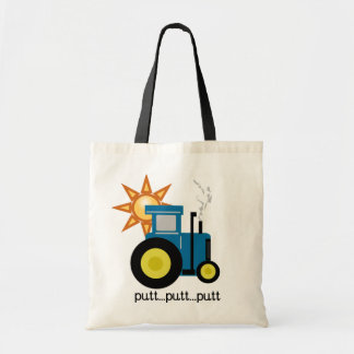 Blue Putt Putt Tractor Tshirts and Gifts Canvas Bag