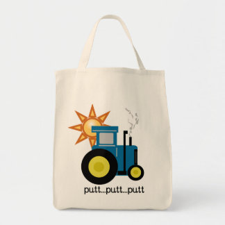 Blue Putt Putt Tractor Tshirts and Gifts Tote Bag