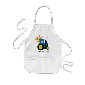 Blue Putt Putt Tractor Tshirts and Gifts Kids' Apron