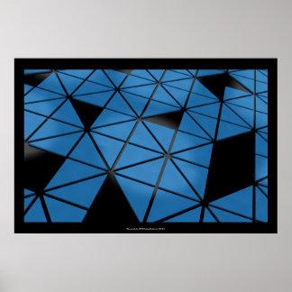 Blue Puzzle Art Poster