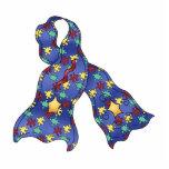 Blue Puzzle Autism Aspergers Awareness Ribbon Photo Cut Outs