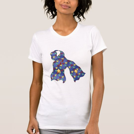 Blue Puzzle Autism Awareness Ribbon T-Shirt