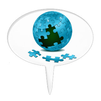 blue puzzle globe pieces fall out eco graphic.png cake picks