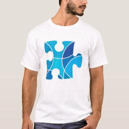 Blue puzzle piece T-Shirt