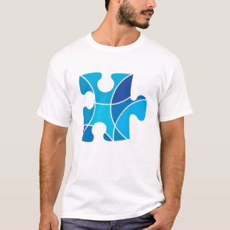 Blue puzzle piece T-Shirt