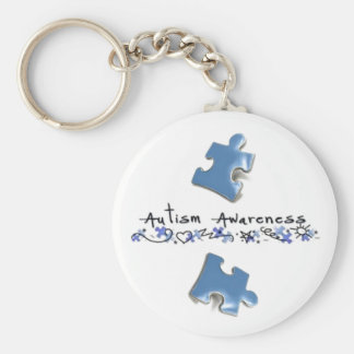 Blue Puzzle Pieces - Autism Awareness Keychain