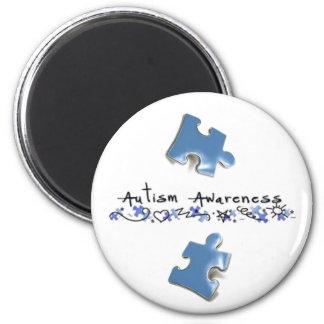 Blue Puzzle Pieces - Autism Awareness Magnet