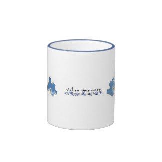 Blue Puzzle Pieces - Autism Awareness Ringer Coffee Mug