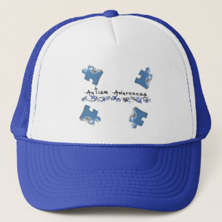 Blue Puzzle Pieces - Autism Awareness Trucker Hat