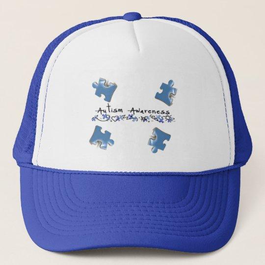 Blue Puzzle Pieces - Autism Awareness Trucker Hat
