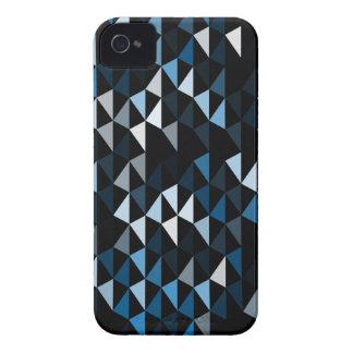 blue pyramid pattern 02 iPhone 4 case