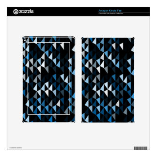 blue pyramid pattern 02 kindle fire skins