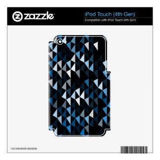 blue pyramid pattern 02 iPod touch 4G skin