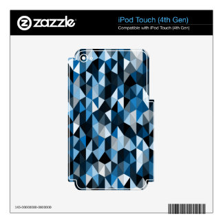 blue pyramid pattern 07 skin for iPod touch 4G