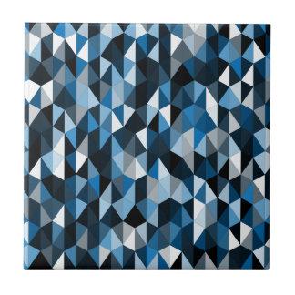 blue pyramid pattern 07 tile