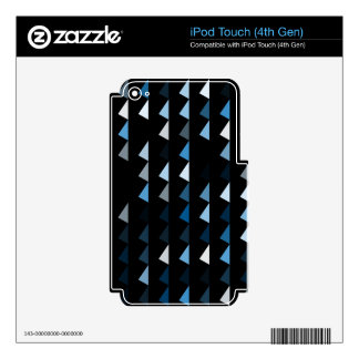 blue pyramid pattern 09 iPod touch 4G decal