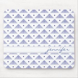 Blue Pyramid Pattern Mouse Pad