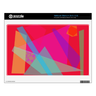 Blue Pyramid Red Decal For Medium Netbook