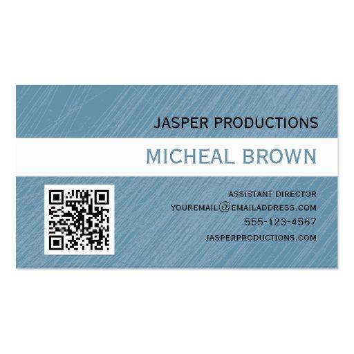 Blue QR Code Business Card