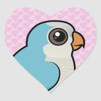 Blue Quaker Heart Sticker