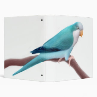 Blue Quaker Parakeet Avery Binder