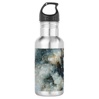 Blue Quartz Mineral Rock Texture Stainless Steel Water Bottle