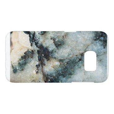 alburtonart Blue Quartz Mineral Texture Samsung Galaxy S7 Case