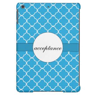 Blue Quatrefoil Pattern iPad Air Case
